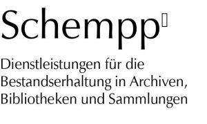 Logo Schempp Dienstleistungen für die Bestandserhaltung in Archiven, Bibliotheken und Sammlungen