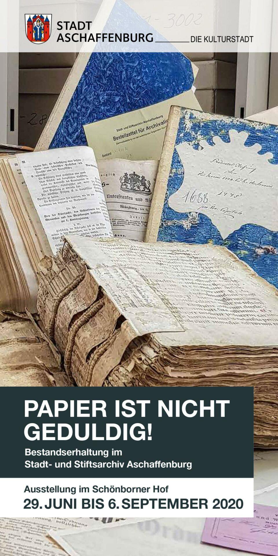 Flyer Ausstellung Papier ist nicht geduldig