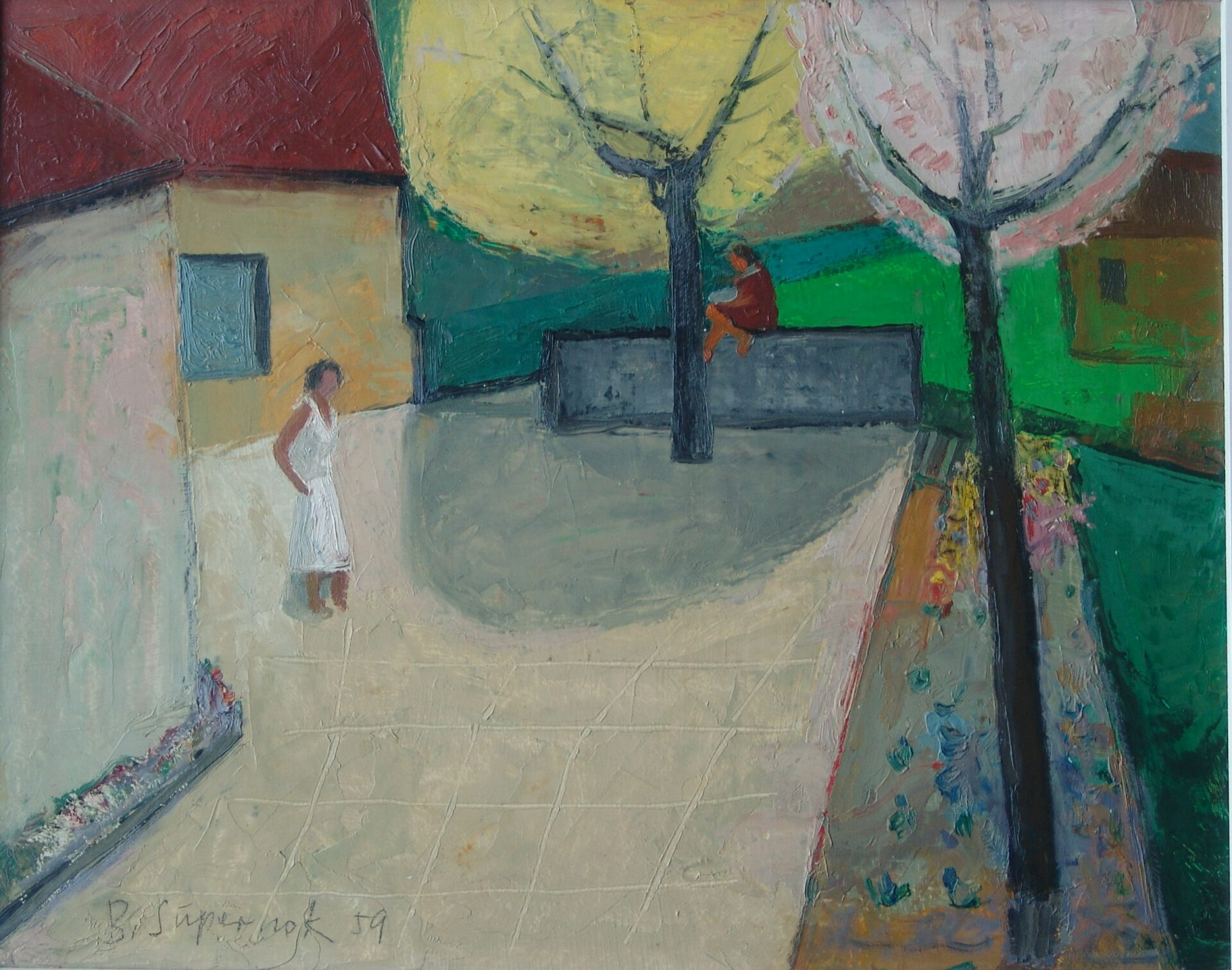 Bruno Supernok, Straßenszene, 1959