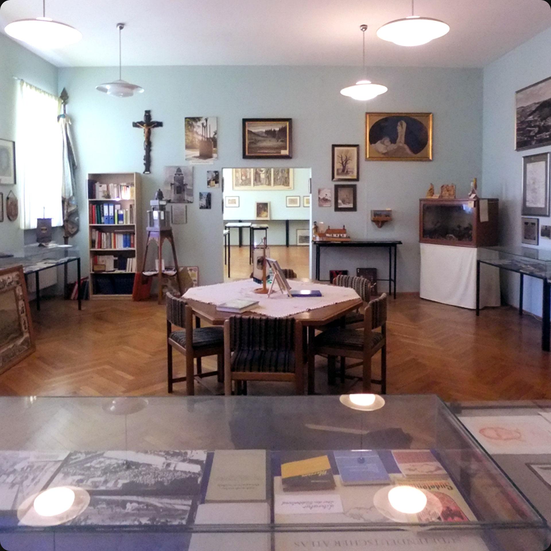 Blick in die Graslitzer Räume im Schönborner Hof (2019, Foto: Charlotte Heß, Stadt- und Stiftsarchiv Aschaffenburg)